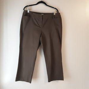 🌞 Apt. 9 Capri Pants, Mid-rise, Brown Dressy | 12